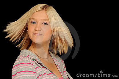 Smiling blond teenager