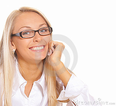 Free Smiling Blond Woman Stock Photo - 3549870