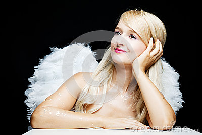 Smiling blonde Angel