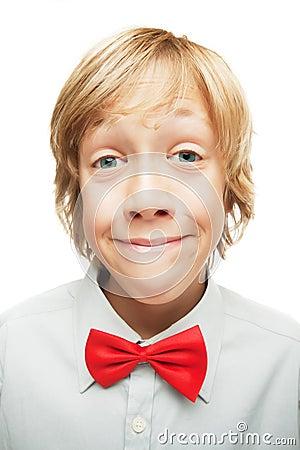 Smiling blonde boy