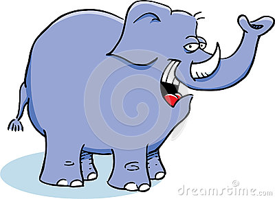 Smiling Blue Elephant