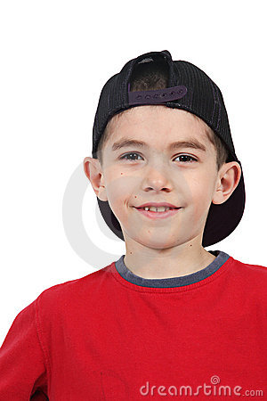 Smiling Boy In Baseball Cap Royalty Free Stock Photography