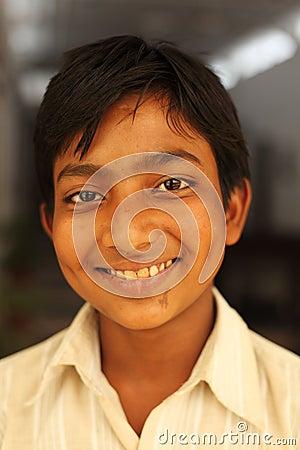 Smiling boy near Karauli in India Editorial Photography