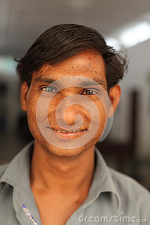 Smiling boy near Karauli in India Editorial Image