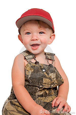 Smiling boy with red cap