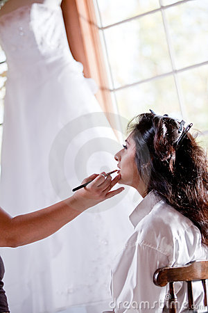 Smiling Bride Getting Ready Stock Photos - Image: 22835613