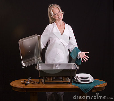 Smiling Buffet Chef