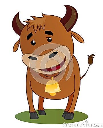 Smiling bull