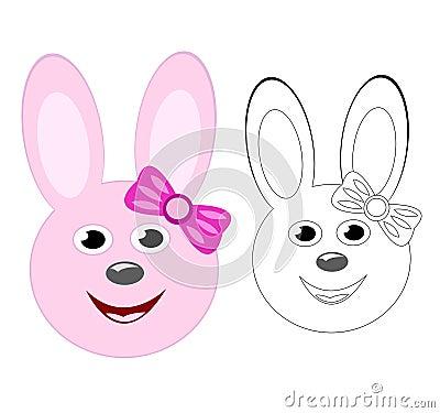 Smiling bunny girl