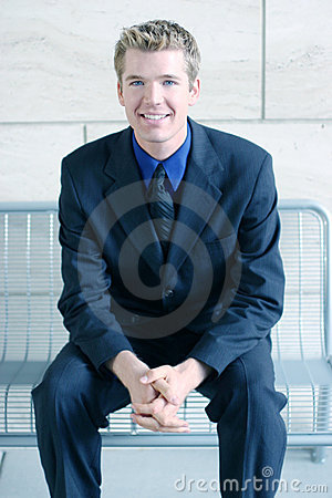 Free Smiling Business Man With Folded Hands Royalty Free Stock Images - 231089