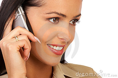 Smiling Business Woman Talking By Phone Stock Photos - Image: 797553