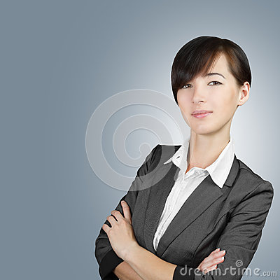 Smiling businesswoman