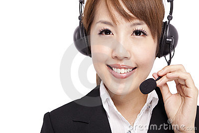Smiling businesswoman and Customer Representative