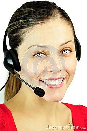 Free Smiling Call-center Girl Stock Photos - 22640073