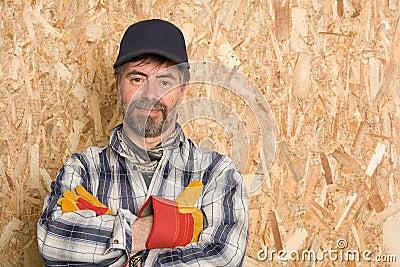Smiling carpenter