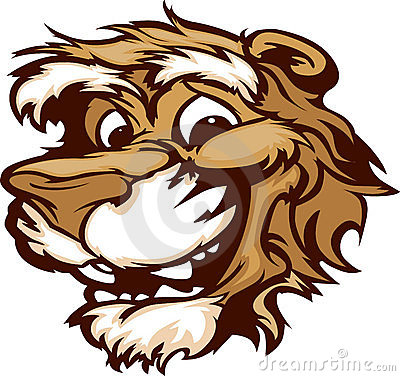 Smiling Cartoon Cougar Mountain Lion MascotGraphic