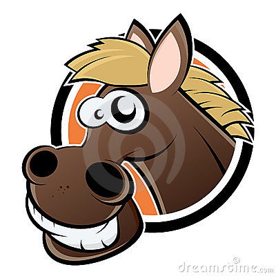 Smiling cartoon horse