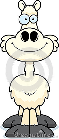 Free Smiling Cartoon Llama Stock Photo - 47477640