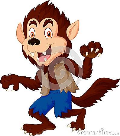 smiling cartoon werewolf stock vector image 45855254