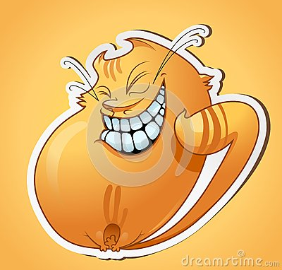Smiling cat sticker