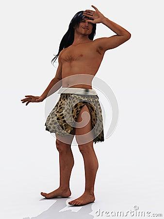 Smiling caveman