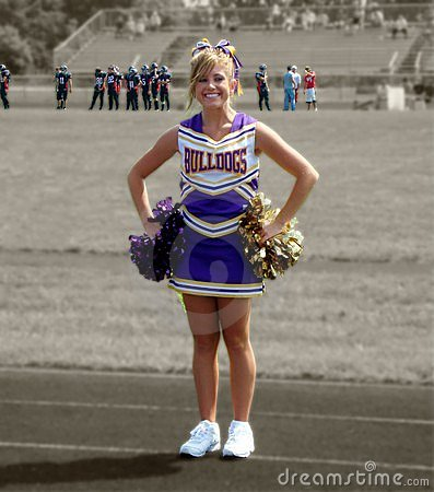 Free Smiling Cheerleader Royalty Free Stock Photos - 3034538