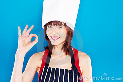 Smiling Chef Giving Perfection Gesture