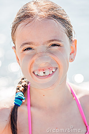Free Smiling Child On A Beach Royalty Free Stock Image - 76095596