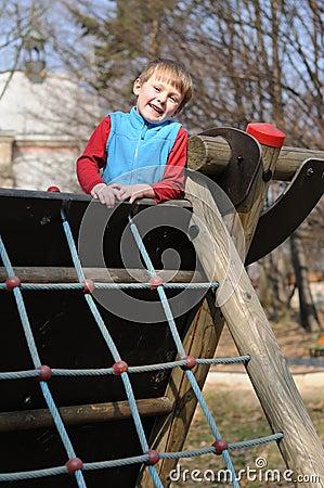 Smiling child in playground