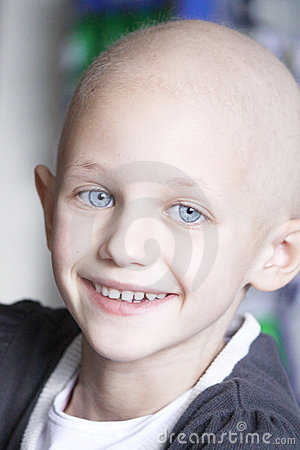 Free Smiling Child With Cancer Royalty Free Stock Image - 18910696