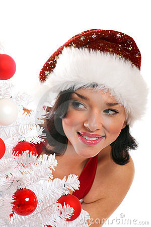 Smiling Christmas woman