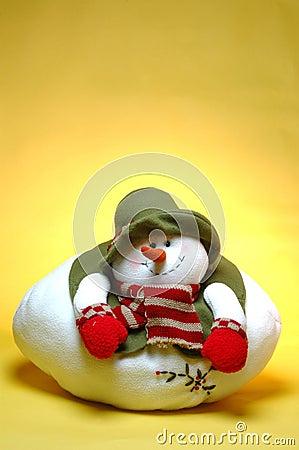 Smiling chubby snowman