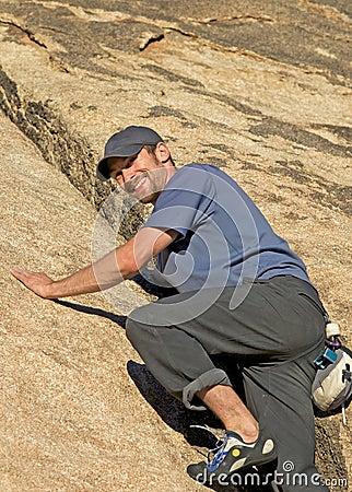 Smiling climber