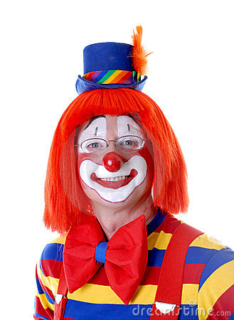 Smiling Clown With Glasses