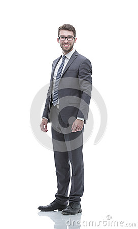 Free Smiling Confident Business Man. Portrait In Full Growth Stock Image - 99021611