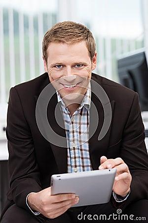 Smiling confident businessman