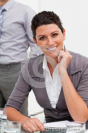 Free Smiling Confident Businesswoman Taking Notes Royalty Free Stock Photos - 12257148
