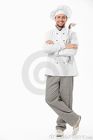 Free Smiling Cook Stock Image - 18720721