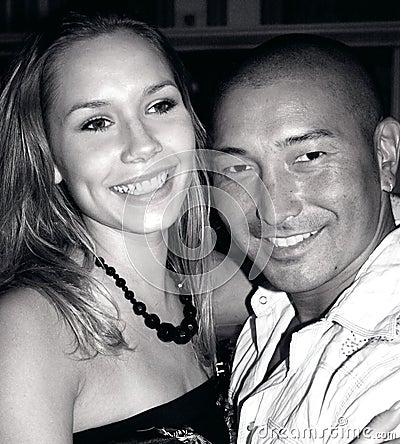 Smiling Couple B&W