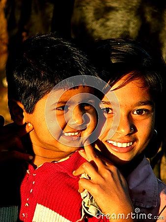 Smiling Cousins