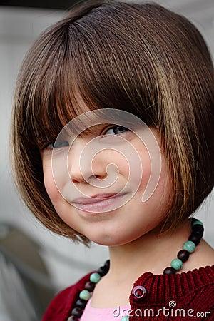 Smiling Coy Child