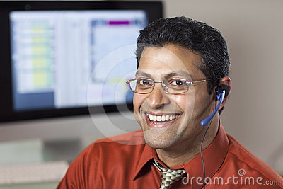 Smiling Customer Service Rep