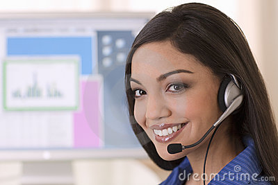 Smiling Customer Service Rep