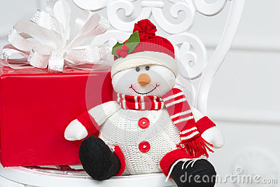 Smiling decorative snowman