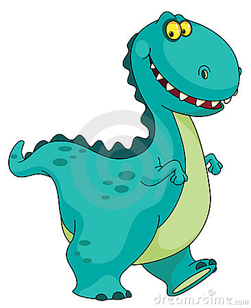 Smiling dinosaur