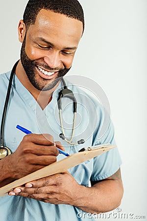 Smiling Doctor or Male Nurse Portrait