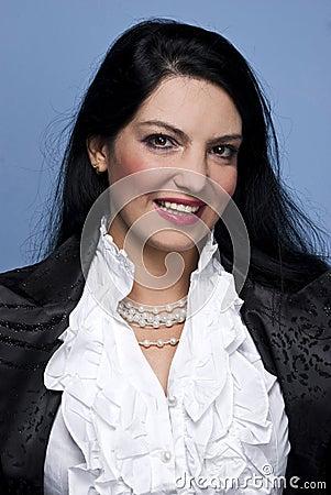 Smiling elegant woman