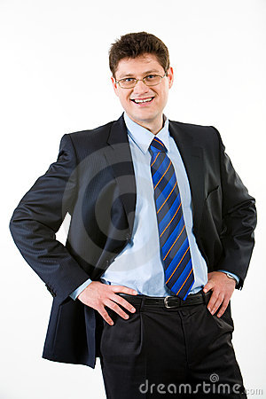 Smiling employer