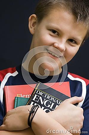 Smiling English student