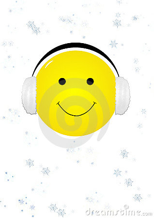 Smiling face with ear muffs